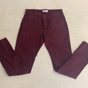 Express Men's Maroon Chino Skinny Pants